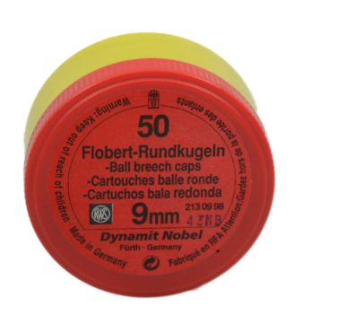 9mm Rundkugel No 90 Flobert 1
